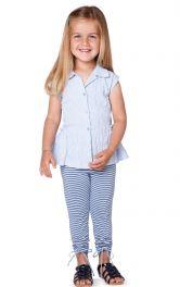 Дитячий блузка з баскою Burdastyle