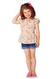 Дитяча блузка з баскою Burdastyle