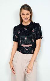 Жіноча оксамитова блузка Burdastyle