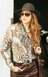 Жіноча шифонова блузка Burdastyle