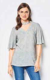 Жіноча блузка з коміром-стойкою Burdastyle