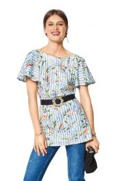 Жіноча блузка з рукавами-крильцями Burdastyle