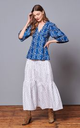 Жіноча блузка силуету ампір Burdastyle