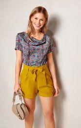 Жіноча блузка з короткими рукавами Burdastyle