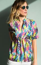 Жіноча блузка з пластроном Burdastyle