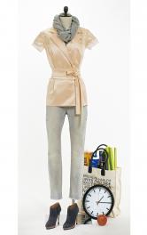 Жіноча блузка з поясом обі Burdastyle