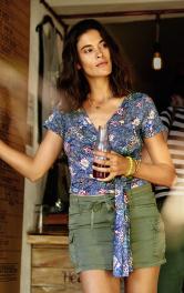 Жіноча блузка із запахом Burdastyle