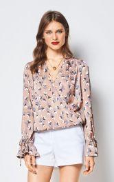 Жіноча блузка ззапахом Burdastyle