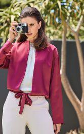 Женский атласный блузон Burdastyle фото 1