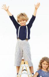 Дитячі брюки з підтяжками Burdastyle
