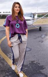 Жіночі брюки на еластичному поясі Burdastyle