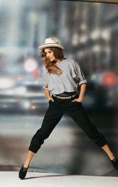 Жіночі брюки на манжетах Burdastyle