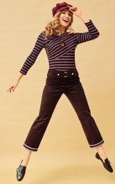 Жіночі вельветові брюки Burdastyle