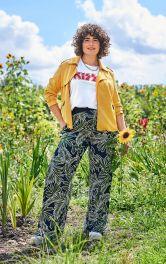 Женские брюки прямого кроя Burdastyle