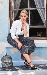 Женские брюки с воланами Burdastyle