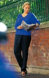 Жіночі брюки з запахом Burdastyle