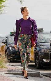 Жіночі брюки з поясом Burdastyle