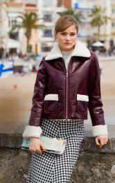 Жіноча лакова куртка Burdastyle