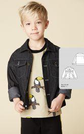 Дитячий джинсова куртка Burdastyle
