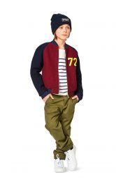 Дитяча куртка в стилі коледж Burdastyle