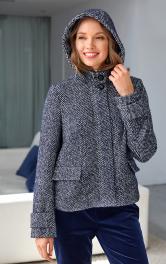 Жіноча куртка з капюшоном Burdastyle