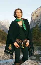 Жіноча накидка з вишивкою Burdastyle