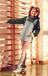 Детский джинсовый полукомбинезон Burdastyle фото 1