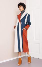 Жіноче пальто в стилі колор-блокінг Burdastyle