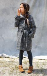 Дитяче пальто з коміром-стойкою Burdastyle
