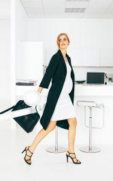 Жіноче пальто для майбутніх мам Burdastyle