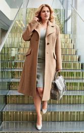 Жіночий пальто приталеного крою Burdastyle