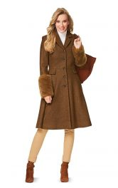 Жіноче пальто приталеного силуету Burdastyle