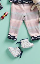 Дитячі пінетки зі шнурівкою Burdastyle