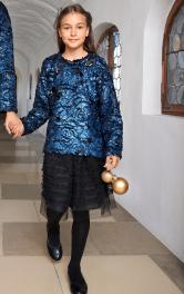 Дитячий пуловер зі штучного хутра Burdastyle