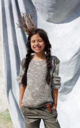 Дитячий пуловер з еполетами Burdastyle