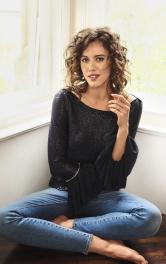 Жіноча пуловер з оборками Burdastyle