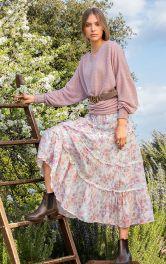 Жіноча пуловер з рукавами летюча миша Burdastyle