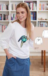 Женский пуловер с аппликацией Burdastyle фото 1