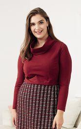Жіночий пуловер з коміром-хомутом Burdastyle