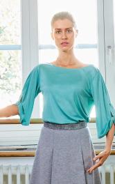 Женский пуловер с драпировками Burdastyle