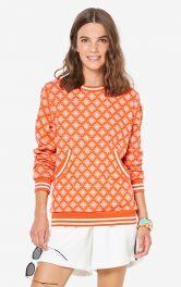 Жіночий пуловер з кишенею-кенгуру Burdastyle