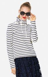 Жіночий пуловер з коміром-гольф Burdastyle