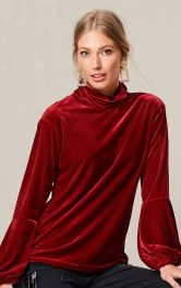 Жіночий оксамитовий пуловер Burdastyle