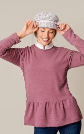 Жіночий пуловер з оборкою Burdastyle