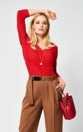 Женский пуловер приталенного кроя  Burdastyle