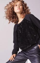 Жіночий пуловер реглан з пайєтками Burdastyle