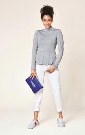 Жіночий пуловер з баскою Burdastyle