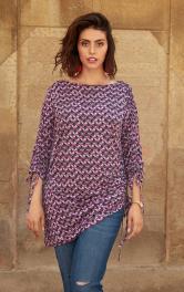 Жіночий пуловер з драпіровками Burdastyle