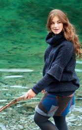 Жіночий пуловер з оборками Burdastyle