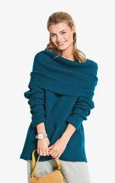 Жіночий пуловер зі знімним коміром Burdastyle